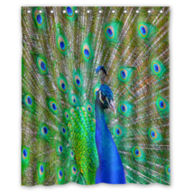 Peacock #03 Shower Curtain Waterproof Made From Polyester - $31.26 - $48.30