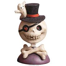 Retro Style Halloween Skull and Ghost Nodder Bobbly Head Figurine - NWL - £6.29 GBP