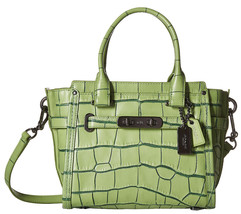 NWT Coach 37698 Pistachio Contrast Croc Leather... - $236.41