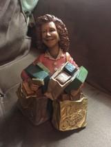 The Power Shopper Trophy Woman Gold Card Statue Unique - $24.31