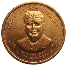 JOHN KENNEDY MEDAL Vintage 1960s United States 35th President Kennedy Tr... - $9.99