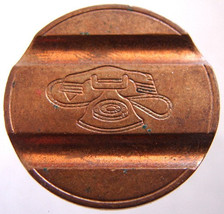 ITALIAN TELEPHONE TOKEN Old Unique Copper Telefonico Telephone Gettone j... - $4.99