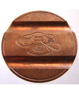 ITALIAN TELEPHONE TOKEN Old Unique Copper Telefonico Telephone Gettone j... - $7.11 CAD