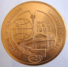 WORLDS FAIR 21st CENTURY United States Seattle Space Age Expo 1962 jetto... - $9.99