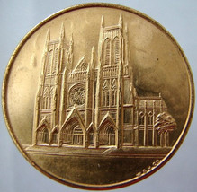 CATHEDRAL ST. JOHN Church New York Religious Pilgrimage Gild Medal Token... - $9.99