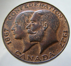 Canadian Confederation 1927 60th Anniversary King GEORGE and Queen VICTO... - $14.99