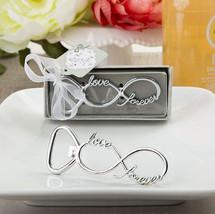 1 Infinity Love Forever Design Silver Metal Wedding Favor Bottle Opener Barware - $5.92