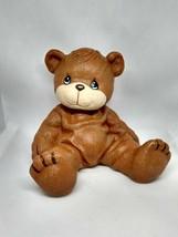 Vintage 1998 Enesco Precious Moments Plastic Brown Bear Piggy Bank - $14.80