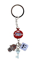 Judaica Keyring Keychain Key Holder Hamsa Luck Charms Hai Pomegranate