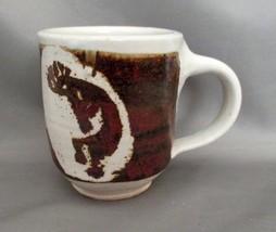 KOKOPELLI Stoneware  Coffee MUG Signed; Southwestern Flute Player Cream Brown - $6.99