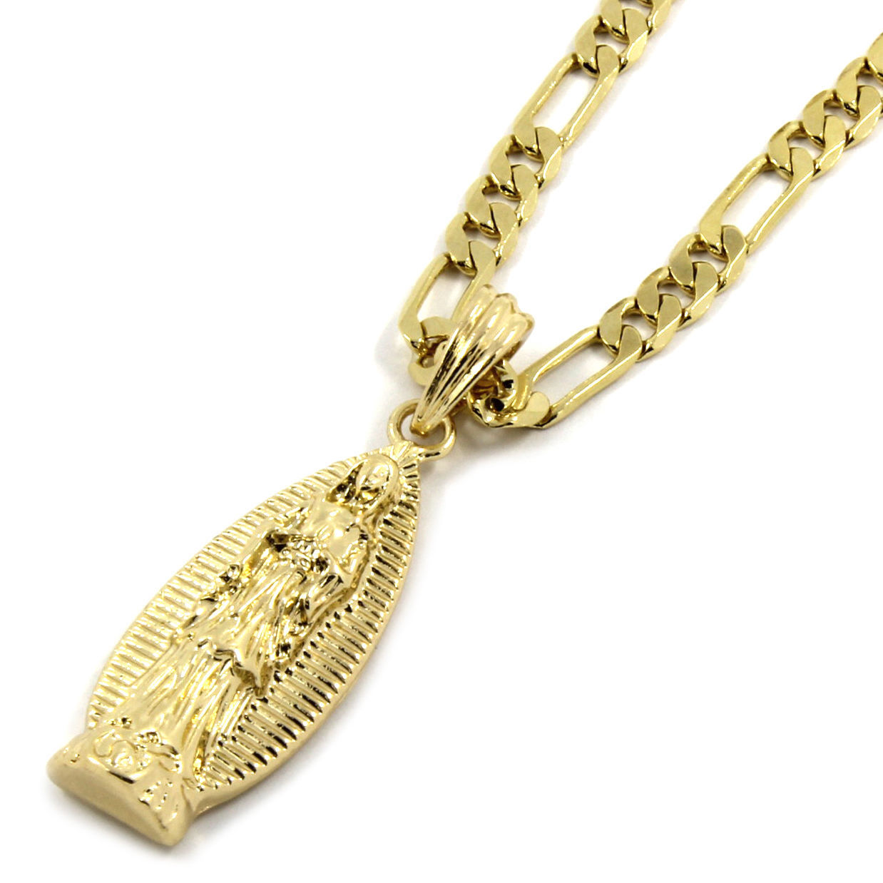 Mens 14K Gold Plated Long Virgin Mary and 50 similar items