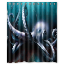 Octopus Pattern #02 Shower Curtain Waterproof Made From Polyester - $31.26+