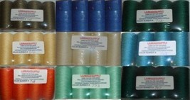 36 Tubes BLUE/GREEN Spun Polyester Quilting Serger Sewing Thread  - $46.71