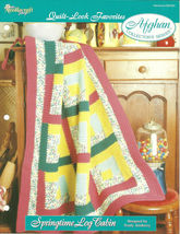 Needlecraft Shop Crochet Pattern 962300 Springtime Log Cabin Afghan Series - $4.99
