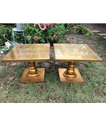 Vintage mid century End Table Pair Hollywood Re... - $599.99
