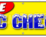 "72"" FREE A/C CHECK BANNER SIGN air conditioning ac auto repair car shop"