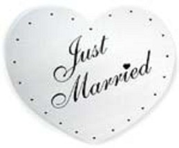 Just married single heart cardboard sign car decoration can be decorated... - $17.82