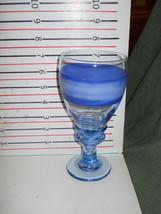 SANGO NOVA BLUE GOBLET MADE BY LIBBEY - $9.85