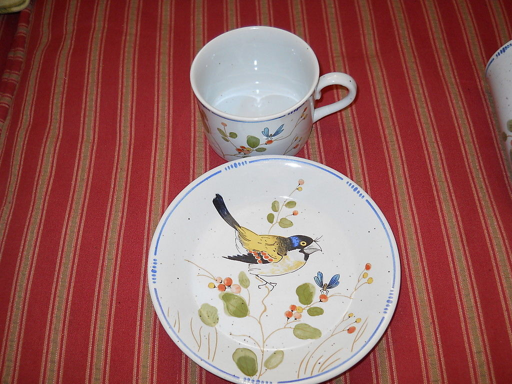 Primary image for FITZ & FLOYD OISEAU  CUP AND SAUCER