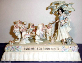 Lenox Disney AT THE PARADE WITH SNOW WHITE Float Figurine & 7 Dwarfs New - $348.90