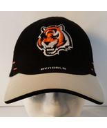 Cincinatti Bengals Stretchable Fitted Hat Black NFL Reebok - $9.89