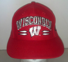University of Wisconsin Snap Back Hat Logo Athletic Red - $17.81