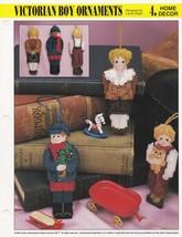 Victorian Boy Ornaments, Annie's Plastic Canvas Pattern Leaflet 310-08 - $1.95