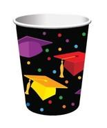 """Graduation Fest 9 oz Paper hot cold Cups 18 ct """"Congratulations Grad"""" Party - $7.12"""