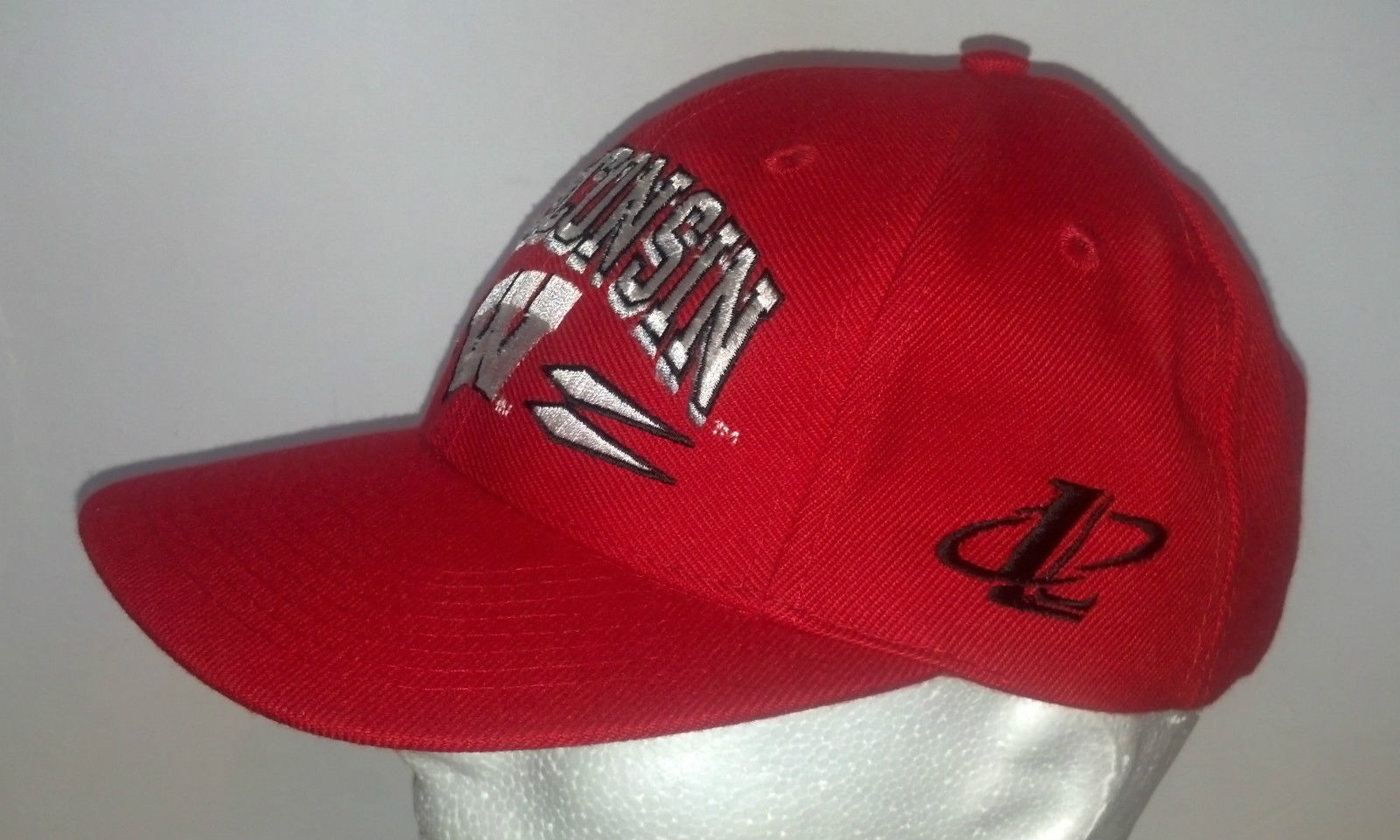 university of wisconsin snap back hat logo athletic red college ncaa