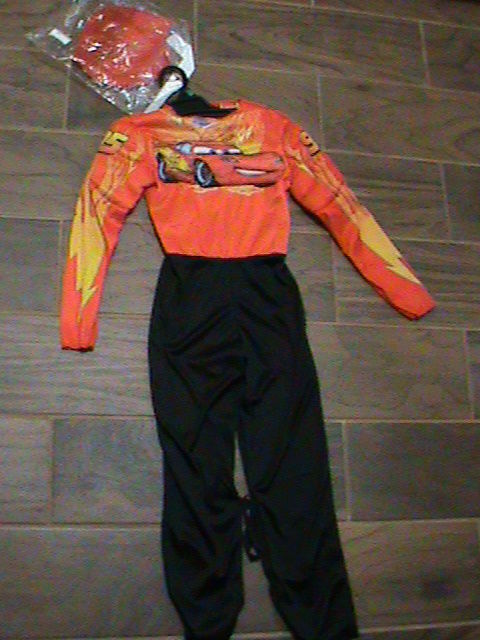 Lightning McQueen Disney Pixar Cars Muscle Costume Halloween Child Size M 7-8