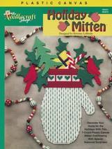 Holiday Mitten, Christmas Decor Plastic Canvas Pattern Leaflet TNS 993072 - $3.95