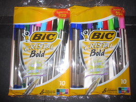 Bic Cristal Bold Colors 2-10 pack assorted colo... - $5.84
