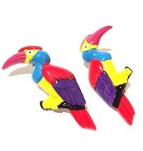 Parrot Perekee Tropical Bird Whimsical Earrings Handmade Colorful Handma... - $24.75