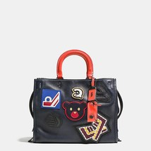 Coach Badlands Black Copper/Navy Pebble Leather... - $1,170.99