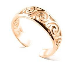 10K Solid Yellow GOLD Celtic Swirl Toe Ring - $85.00