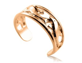10K Solid Yellow GOLD Dolphin Toe Ring - $59.00