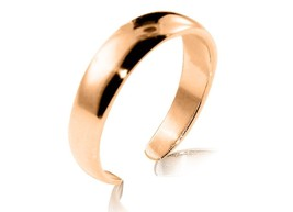 10K Solid Yellow GOLD Plain Dome Toe Ring - $71.28+