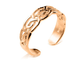 10K Solid Yellow GOLD Celtic Knot Toe Ring - $75.00