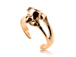 10K Solid Yellow GOLD Frog Toe Ring - $84.00
