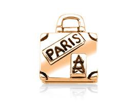 10K Genuine GOLD Suitcase Luggage Bag Vacation Fits EURO BRACELETS Charm... - $165.33