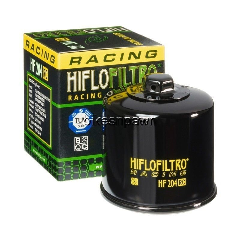 HiFlo HF204RC Black Racing Oil Filter Artic Cat Honda Suzuki Yamaha Triumph