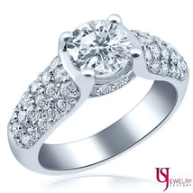 Vintage Diamond Ring 14k White Gold Engagement Jewelry 1.98 Carat (1.04) F/SI1 - $4,473.81