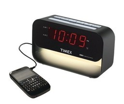Dual Alarm Clock Digital Auto Time Change USB Phone Charging Port LED Di... - $34.50