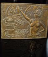 Vintage Coca Cola buckle Nude Bronze brass Belt Art Deco Advertising  Co... - $75.00
