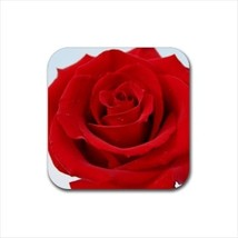 Red Rose Flowers Non-Slip Coaster Set - $6.74