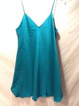 Women's Victoria's Secret Turquoise Underdress Slip Spaghetti Straps Size Medium