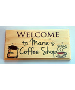 Personalised Coffee Shop Sign, Custom Cafe Kitchen Tea Bar Home House Gift - $13.26