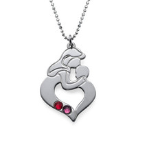 Mother's Child Necklace with Birthstones - $55.00+