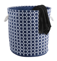 Bintopia Collapsible Laundry Hamper Geometric Navy - $22.98