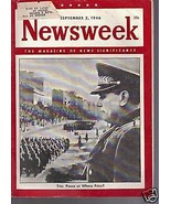 Newsweek Magazine Tito: Peace September 2, 1946 - $14.84